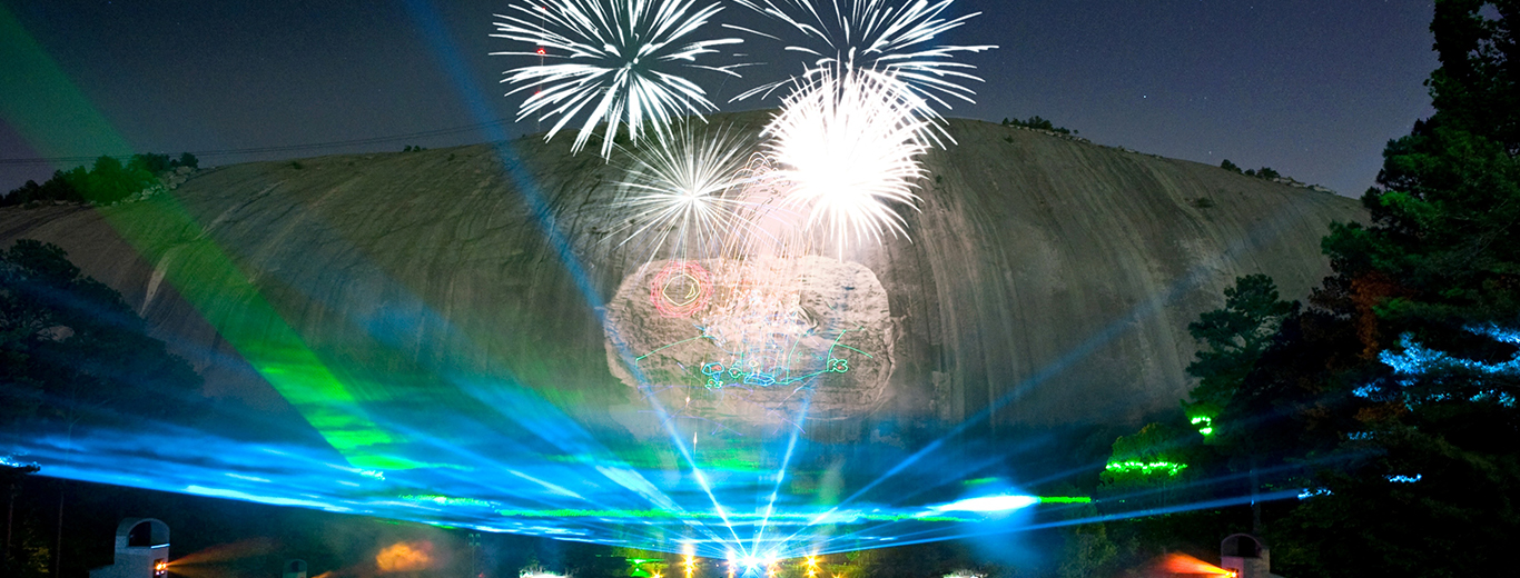 Lasershow Specatcular In Mountainvision Stone Mountain Park