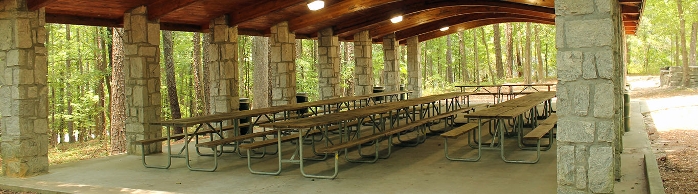 Woodland Pavilion at Stone Mountain Park
