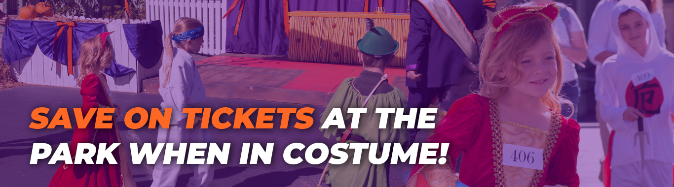 Save on Pumpkin Festival tickets when you wear a costume!
