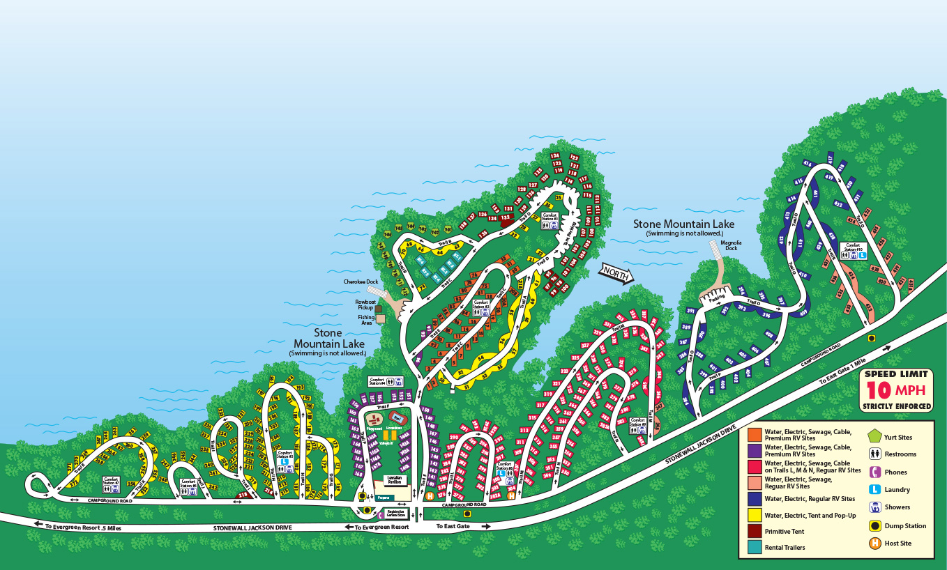 Stone Mountain Park Campground Map