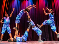 ZUZU African Acrobats during Summer at the Rock