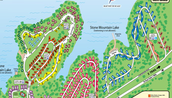 Stone Mountain Park Campground Blue Sites