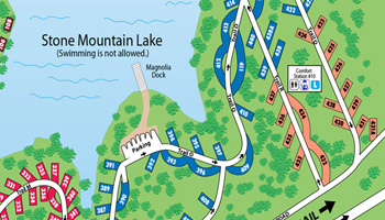 Stone Mountain Park Campground Peach Sites