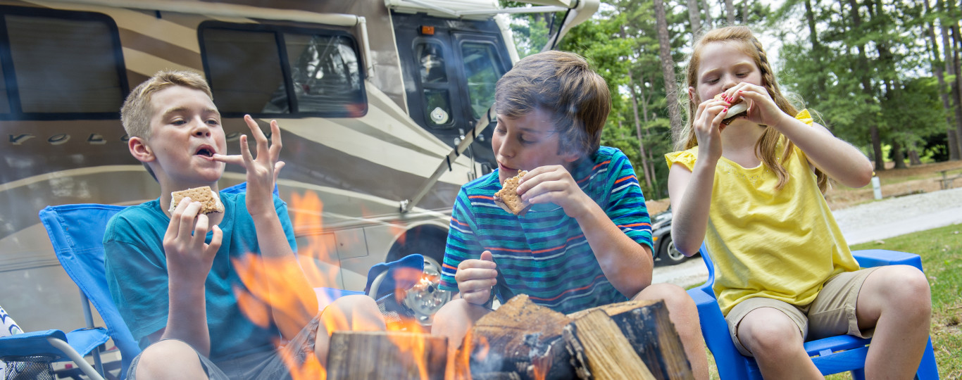 Smores and Campfire at Stone Mountain Campground