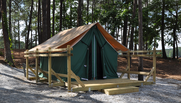 Safari Tent at the Stone Mountain Park Campground