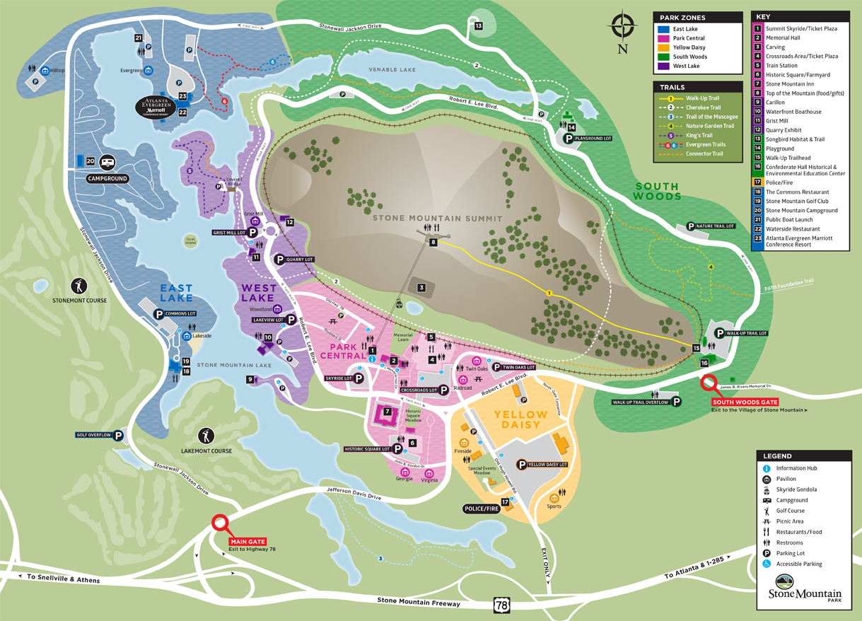 Stone Mountain Park Driving Map